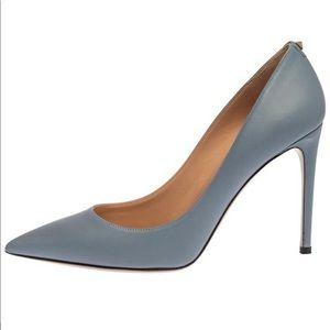 Valentino Baby Blue Pointed Toe Stilettos